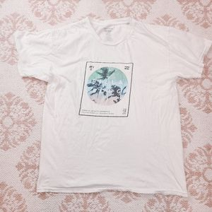 🌴Billabong White Tropical Grand Fit Graphic Tee